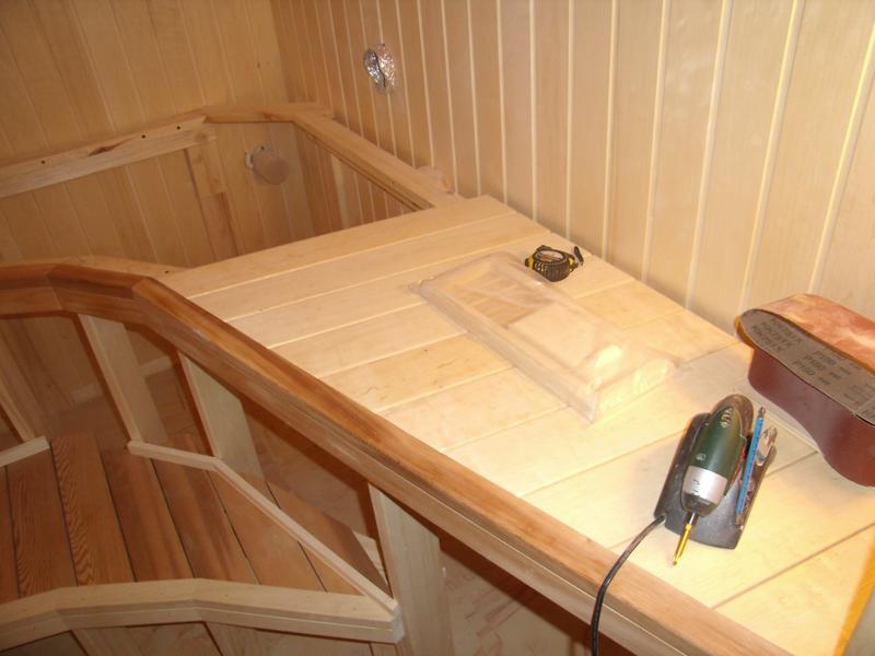 Как сделать в бане лежак